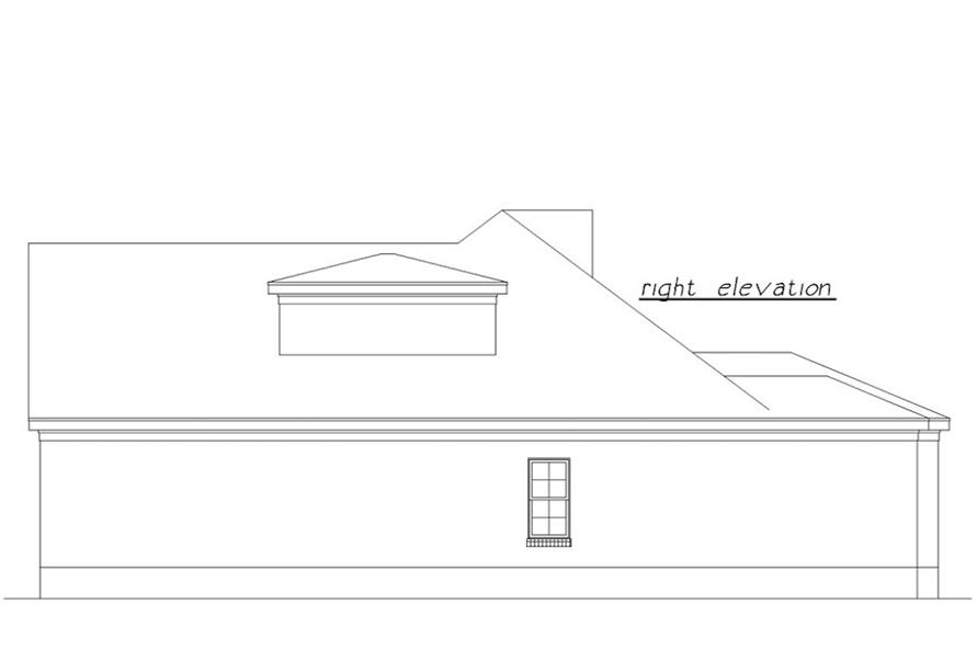 Home Plan Right Elevation of this 3-Bedroom,1639 Sq Ft Plan -203-1023