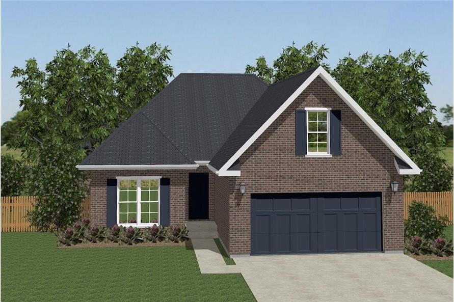 3-Bedroom, 1639 Sq Ft Texas Style House Plan - 203-1023 - Front Exterior