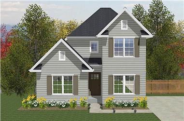 3-Bedroom, 1379 Sq Ft Colonial House - Plan #203-1027 - Front Exterior