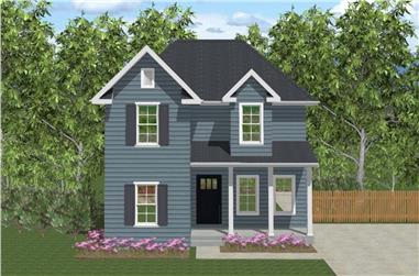 3-Bedroom, 1500 Sq Ft Farmhouse House - Plan #203-1028 - Front Exterior