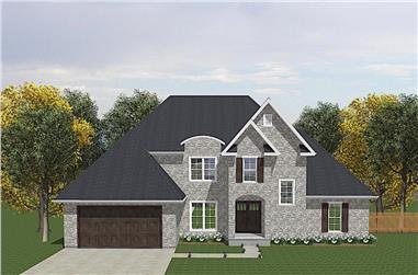 4-Bedroom, 1905 Sq Ft Traditional House - Plan #203-1033 - Front Exterior