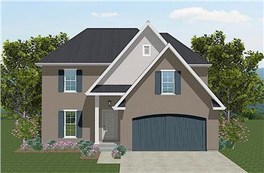 4-Bedroom, 1681 Sq Ft Traditional Home - Plan #203-1034 - Main Exterior