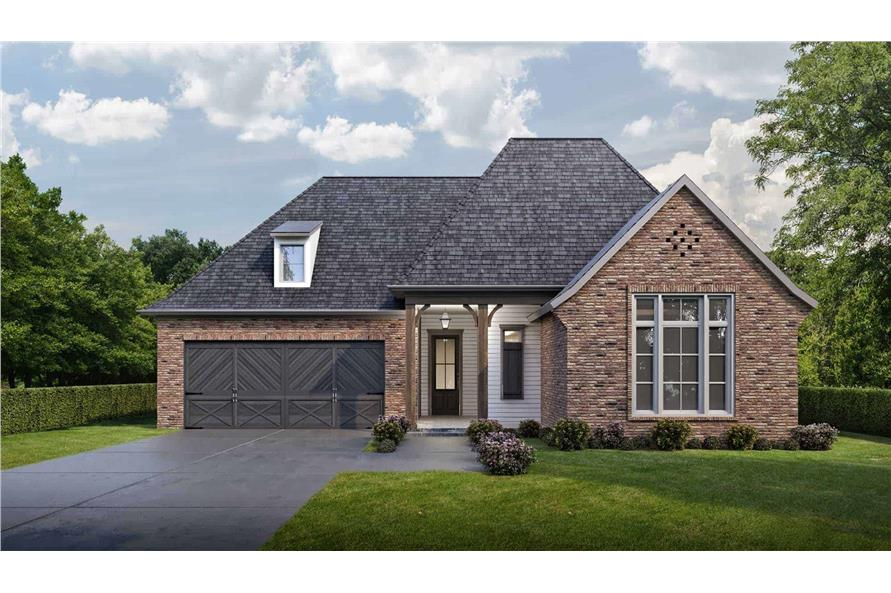 Front View of this 4-Bedroom,1793 Sq Ft Plan -204-1002