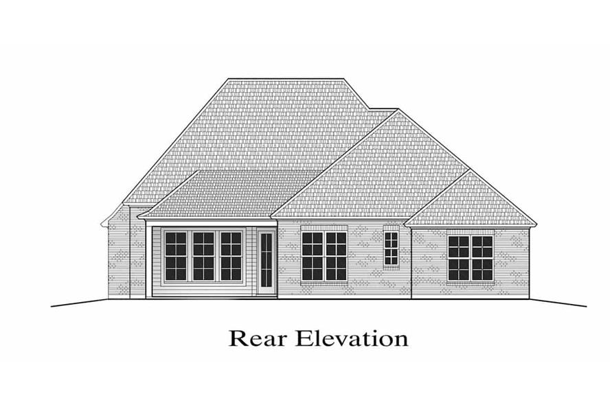 Home Plan Rear Elevation of this 3-Bedroom,1794 Sq Ft Plan -204-1003