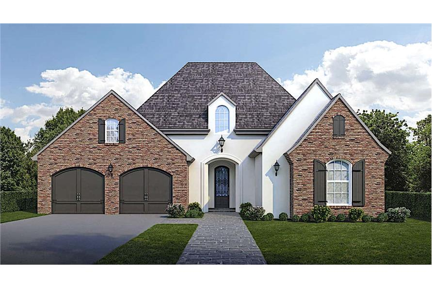 3-Bedroom, 1794 Sq Ft Traditional House - Plan #204-1003 - Front Exterior