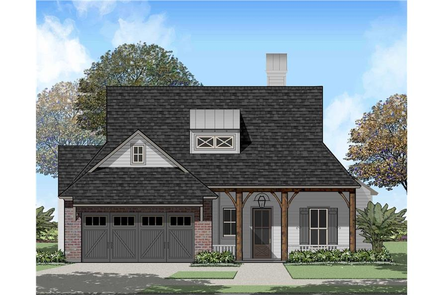 Front View of this 4-Bedroom,1823 Sq Ft Plan -1823