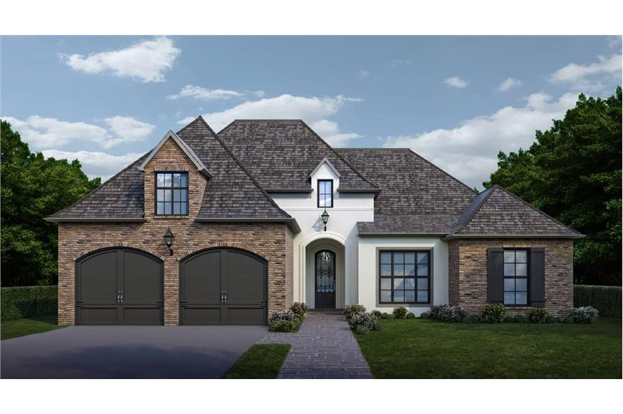 Front View of this 4-Bedroom,2073 Sq Ft Plan -2073