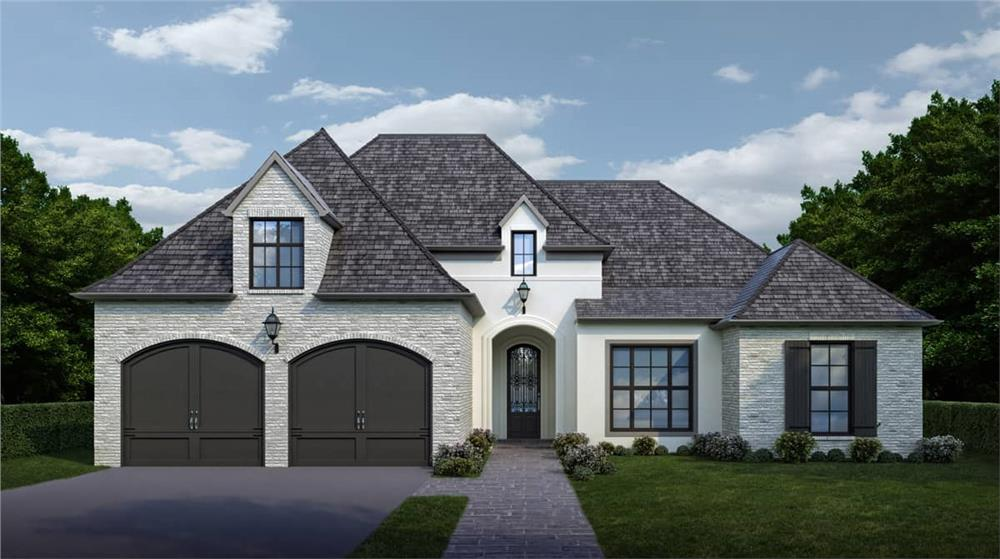 Transitional Ranch home (ThePlanCollection: Plan #204-1007)