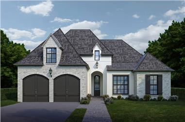4-Bedroom, 2073 Sq Ft Transitional Ranch Home - Plan #204-1007 - Main Exterior