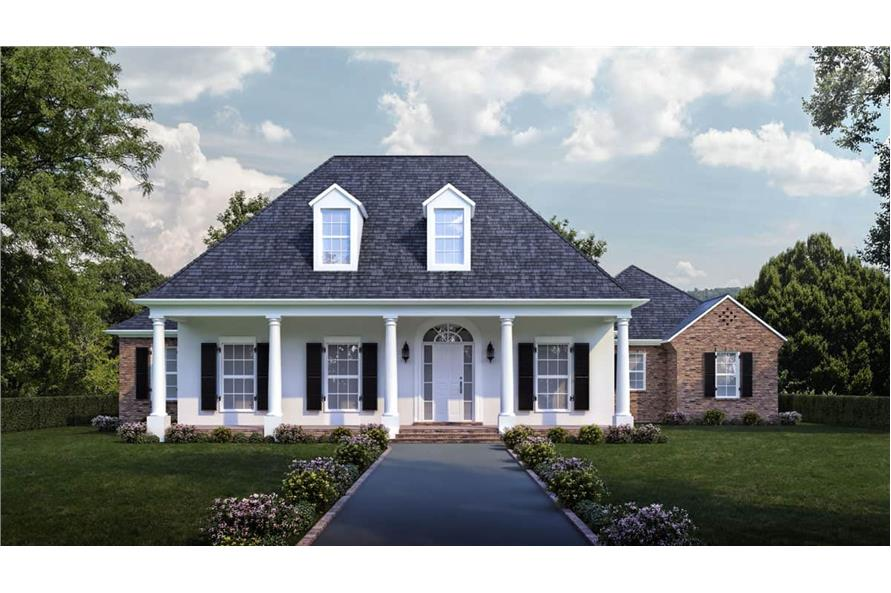 Front View of this 4-Bedroom,3274 Sq Ft Plan -3274