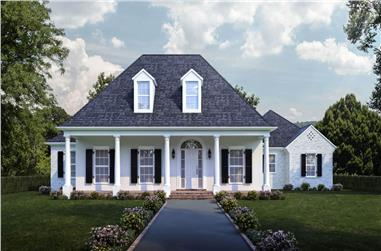 4-Bedroom, 3274 Sq Ft Luxury Home - Plan #204-1012 - Main Exterior