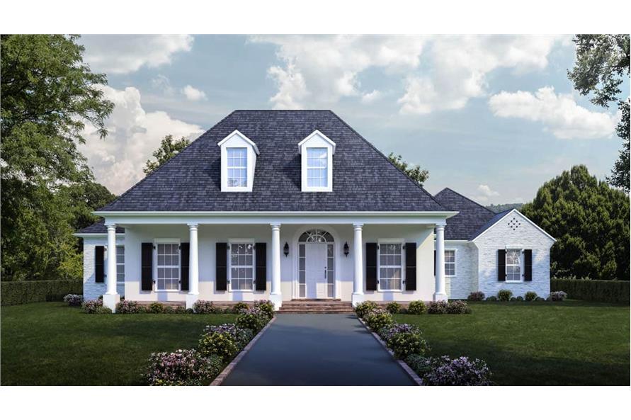 4-Bedroom, 3274 Sq Ft Luxury Home - Plan #204-1012 - Main Exterior