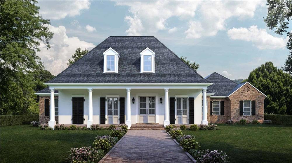 Ranch style home (ThePlanCollection: Plan #204-1013)