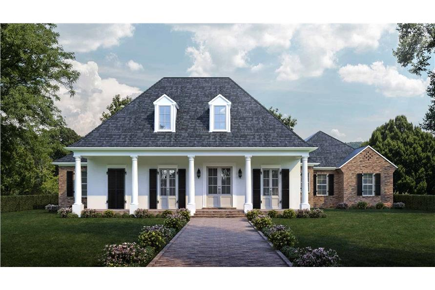 4-Bedroom, 2800 Sq Ft Ranch Home - Plan #204-1013 - Main Exterior