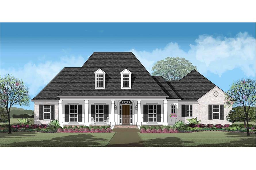 Front View of this 4-Bedroom,2963 Sq Ft Plan -2963