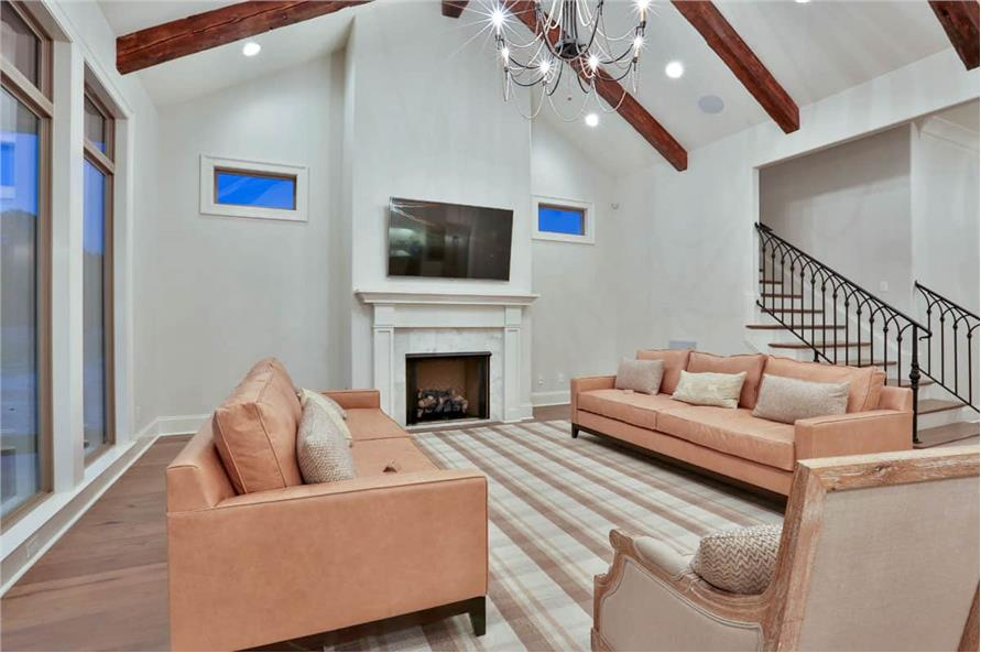 Living Room of this 4-Bedroom,3031 Sq Ft Plan -3031