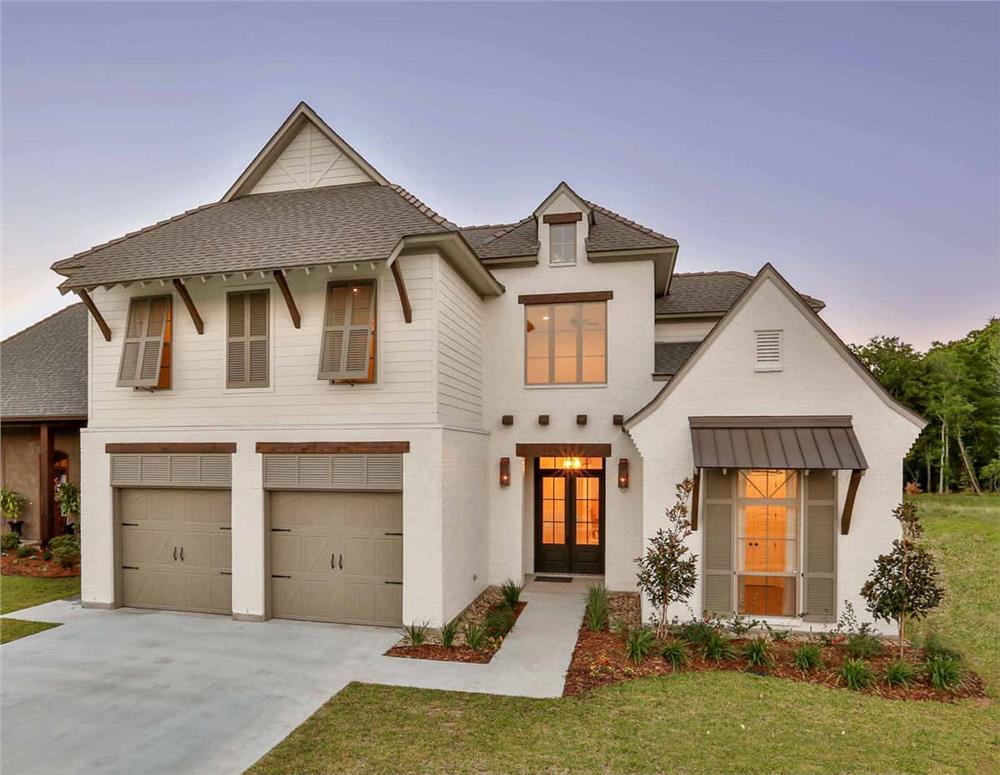 European style home (ThePlanCollection: Plan #204-1016)