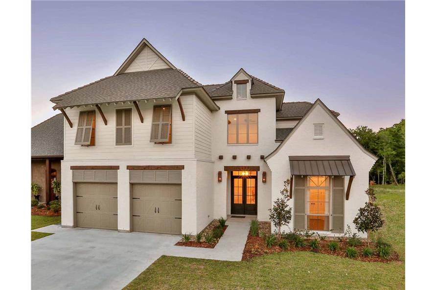 4-Bedroom, 3031 Sq Ft European Style House - Plan #204-1016 - Front Exterior