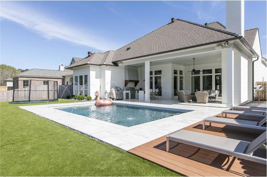 Pool of this 4-Bedroom,3254 Sq Ft Plan -3254