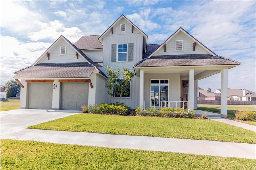 Front View of this 4-Bedroom,3169 Sq Ft Plan -204-1019