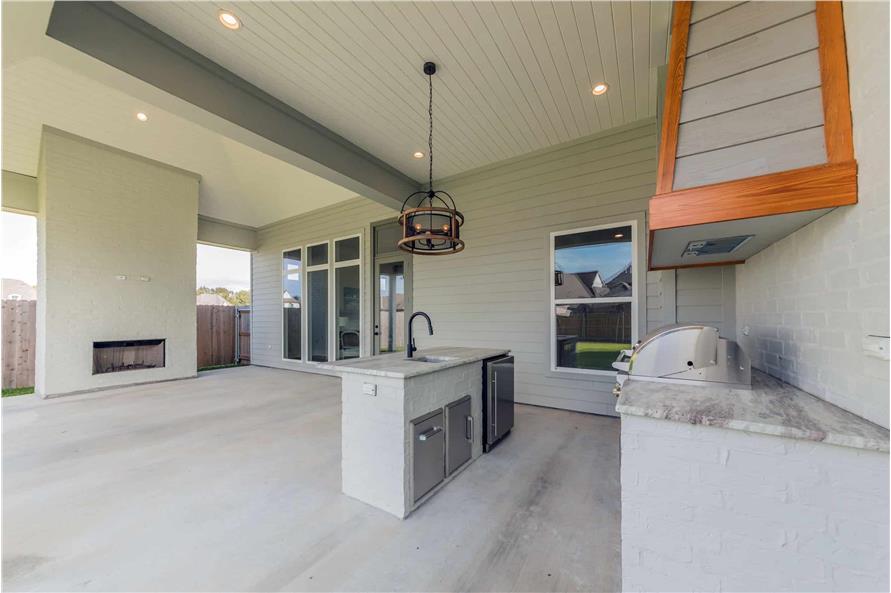 Outdoor Kitchen of this 4-Bedroom,3169 Sq Ft Plan -204-1019