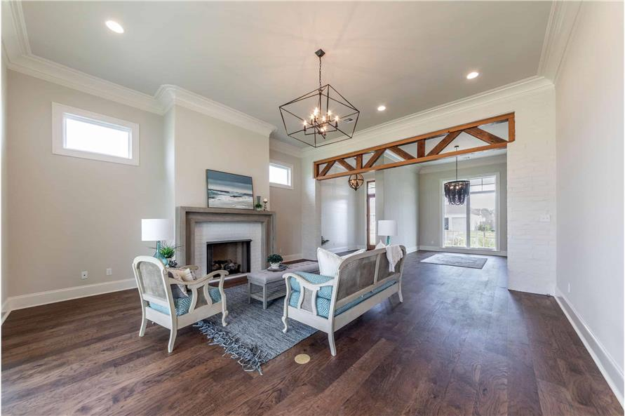 Living Room of this 4-Bedroom,3169 Sq Ft Plan -204-1019