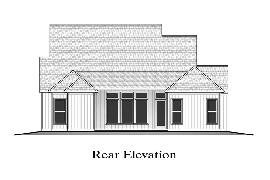 Home Plan Rear Elevation of this 4-Bedroom,1875 Sq Ft Plan -204-1021