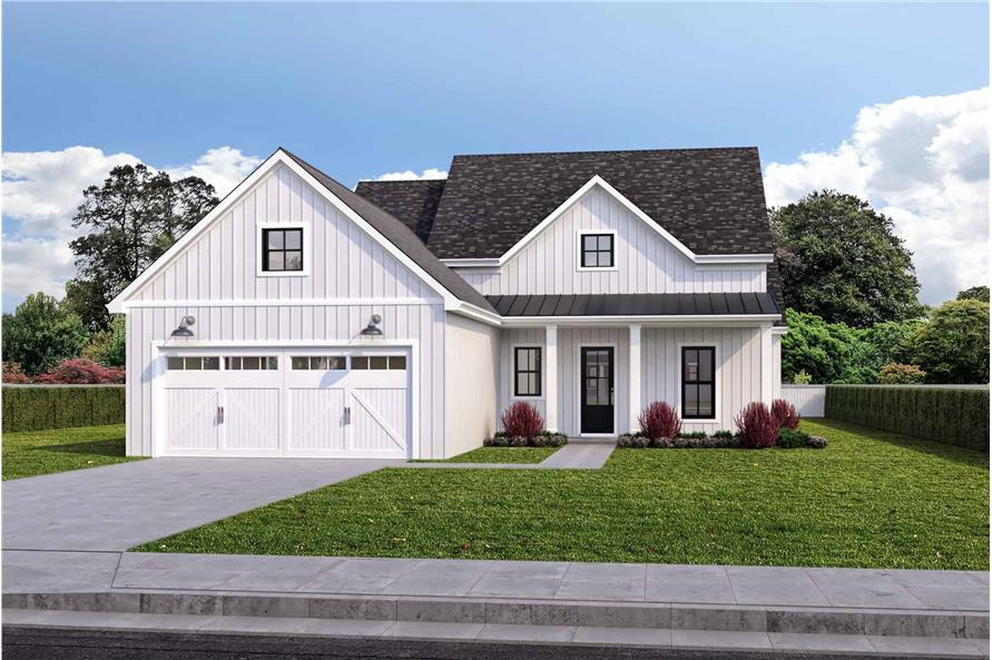 4-Bedroom, 1875 Sq Ft Rustic House - Plan #204-1021 - Front Exterior