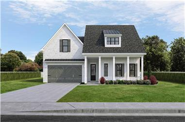 4-Bedroom, 2334 Sq Ft Contemporary House Plan - 204-1022 - Front Exterior