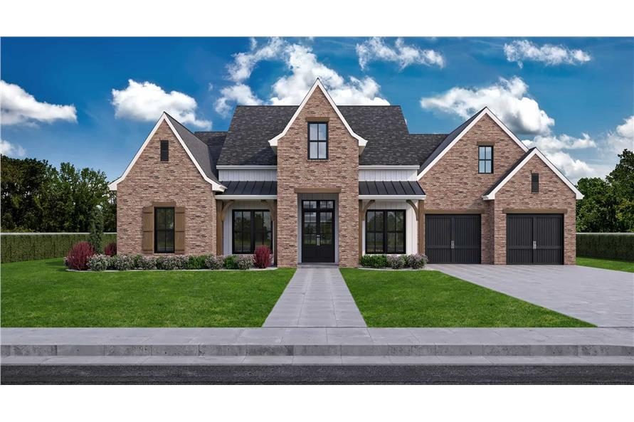 Front View of this 4-Bedroom,2911 Sq Ft Plan -204-1023
