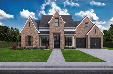 4-Bedroom, 3282 Sq Ft French House - Plan #204-1024 - Front Exterior
