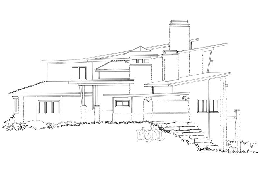 Home Plan Right Elevation of this 5-Bedroom,7419 Sq Ft Plan -205-1000