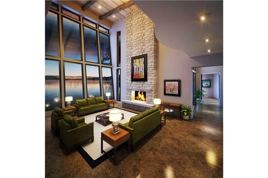 Living Room of this 5-Bedroom,7419 Sq Ft Plan -205-1000