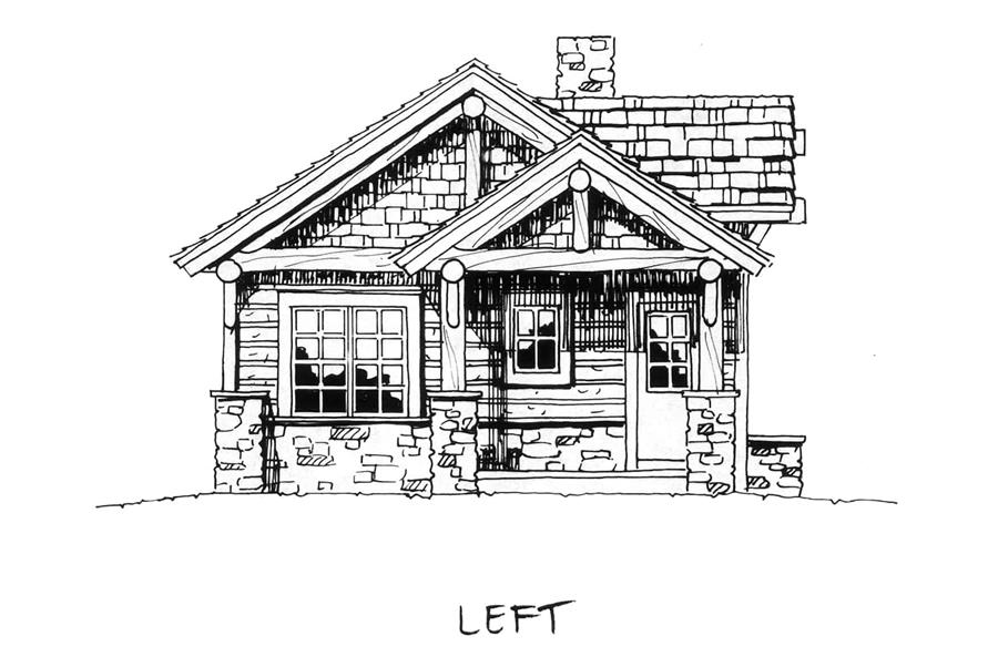 Left View of this 2-Bedroom,681 Sq Ft Plan -681