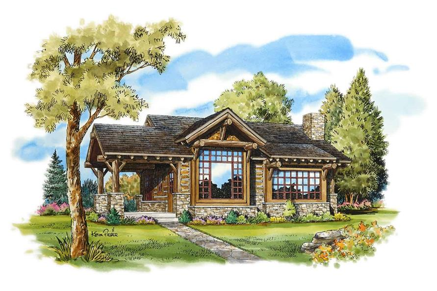 Front View of this 2-Bedroom,681 Sq Ft Plan -681