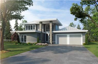 4-Bedroom, 2343 Sq Ft Contemporary Home - Plan #205-1004 - Main Exterior