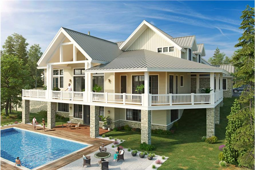 4-Bedroom, 5069 Sq Ft Farmhouse House - Plan #205-1005 - Front Exterior