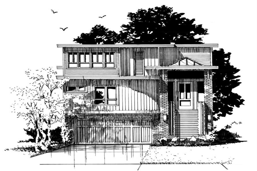 Home Plan Front Elevation of this 4-Bedroom,3230 Sq Ft Plan -205-1006