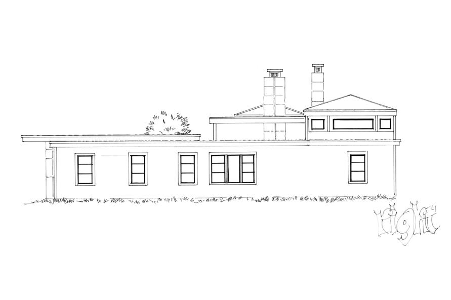 Home Plan Right Elevation of this 3-Bedroom,2090 Sq Ft Plan -205-1007