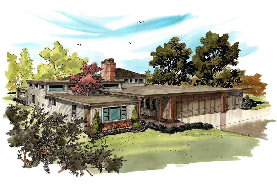 3-Bedroom, 2090 Sq Ft Contemporary Home - Plan #205-1007 - Main Exterior