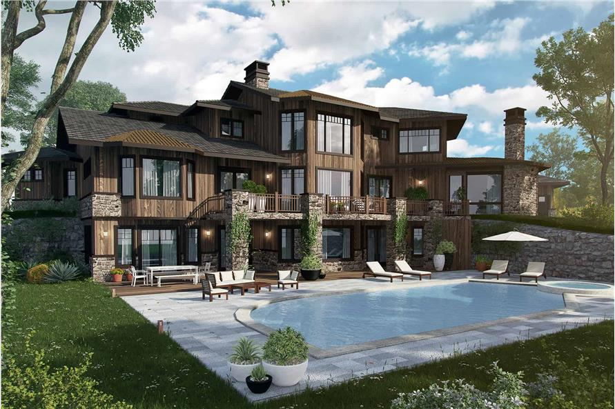 Rear View of this 4-Bedroom,4520 Sq Ft Plan -4520