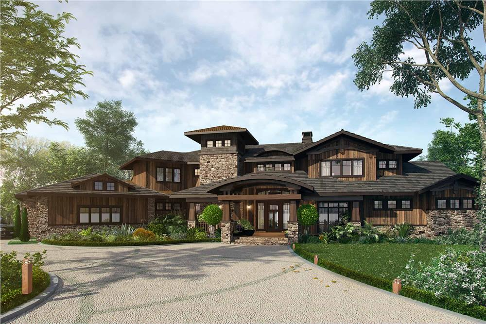 Prairie style home (ThePlanCollection: Plan #205-1010)