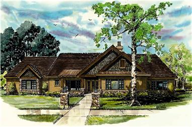 3-Bedroom, 2007 Sq Ft Country House - Plan #205-1012 - Front Exterior