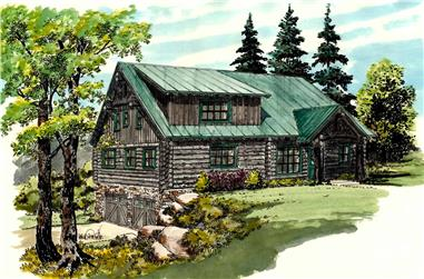 3–4-Bedroom, 2002 Sq Ft Log Cabin House - Plan #205-1013 - Front Exterior