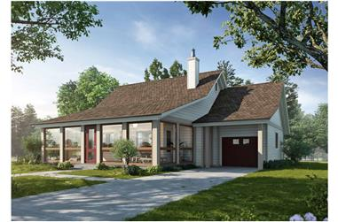 3-Bedroom, 1676 Sq Ft Farmhouse Home - Plan #205-1015 - Main Exterior