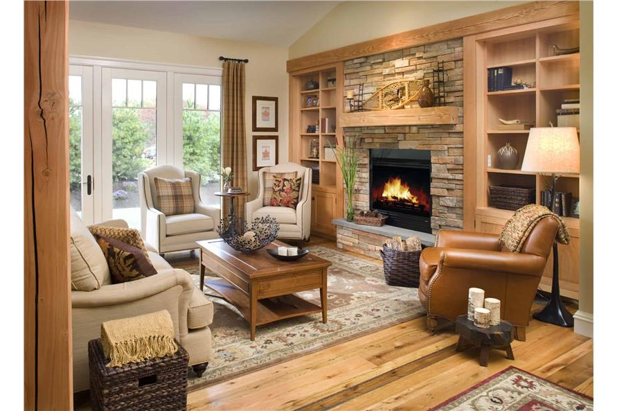 Family Room of this 3-Bedroom,1416 Sq Ft Plan -1416