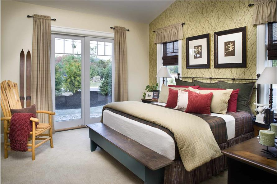 Master Bedroom of this 3-Bedroom,1416 Sq Ft Plan -1416