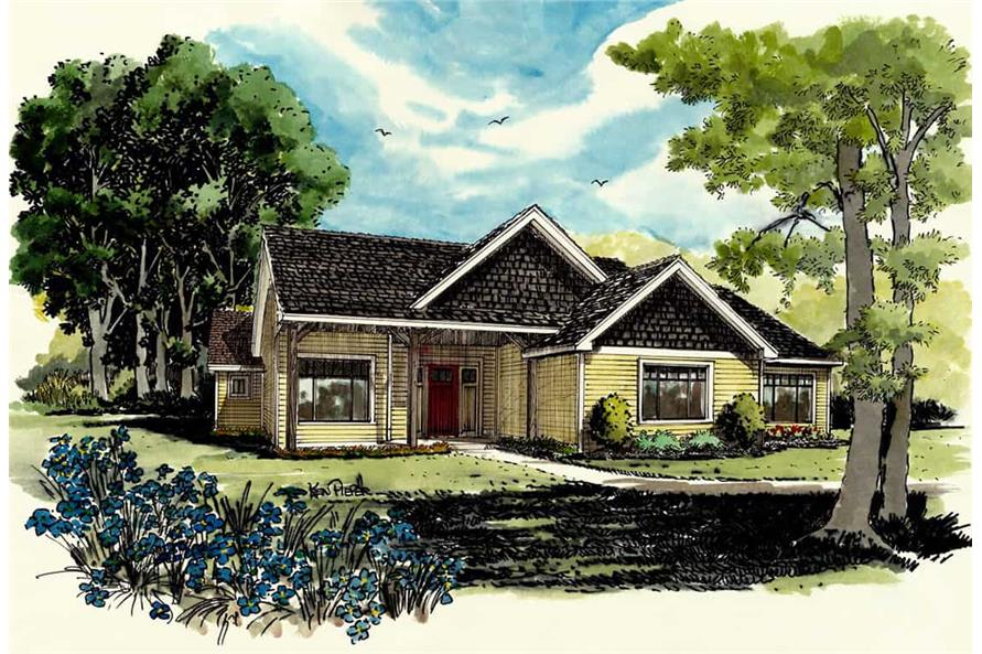 Front View of this 3-Bedroom,1416 Sq Ft Plan -1416