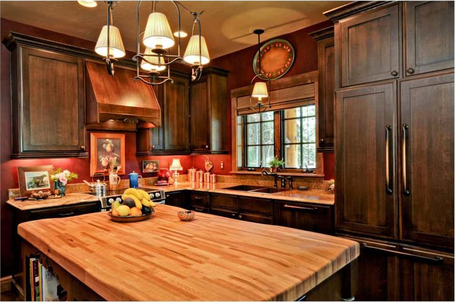 Kitchen: Kitchen Island of this 2-Bedroom,1362 Sq Ft Plan -1362