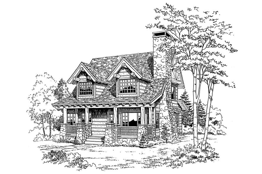 Front View of this 2-Bedroom,1362 Sq Ft Plan -1362